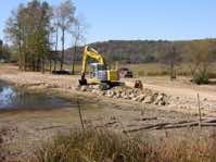 Phase 1 construction began September 2008.  Construction efforts included lowering 2 dams, decommissioning drainage tile, and the installation of 7 fords to restore wetland hydrology to Phase 1.